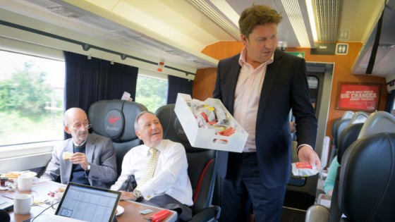 James Martin introduces Virgin Trains menu