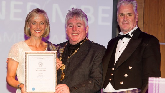 Mich Turner honoured by Scottish Bakers