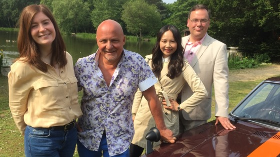 Aldo Zilli stars in Celebrity Antiques Road Trip