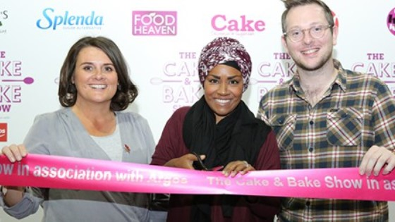 Jo Wheatley opens Cake and Bake Show Manchester