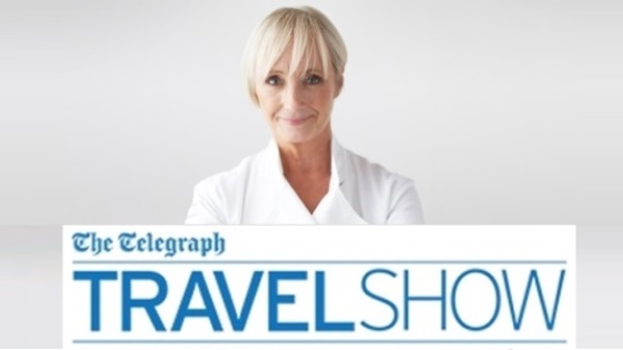 Lesley Waters stars at The Telegraph Travel Show