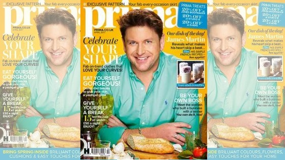 James Martin on the cover of Prima magazine