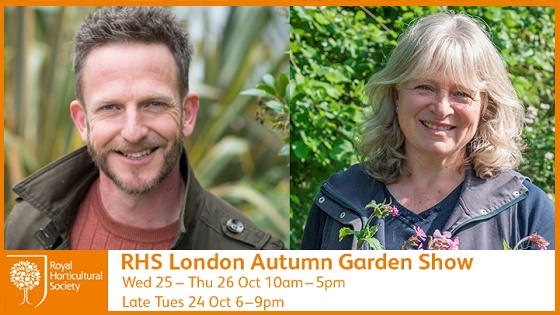 Nick Bailey and Anne Swithinbank at RHS Autumn Show