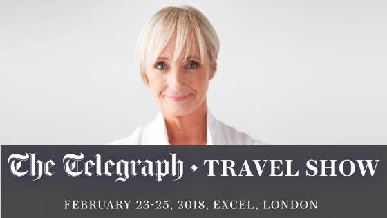 Lesley Waters live at The Telegraph Travel Show